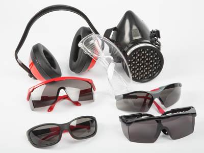Máscara, orejeras y gafas