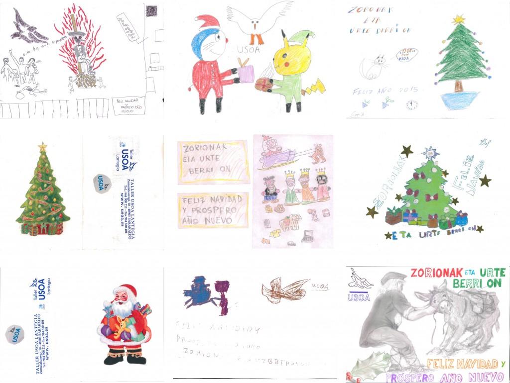 USOA tarjetas de navidad 2014