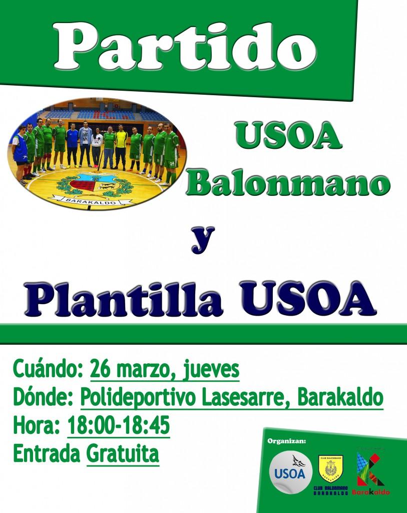 Cartel diseñado para celebrar el 10º aniversario USOA Balonmano, Dpto. RR.HH. USOA.