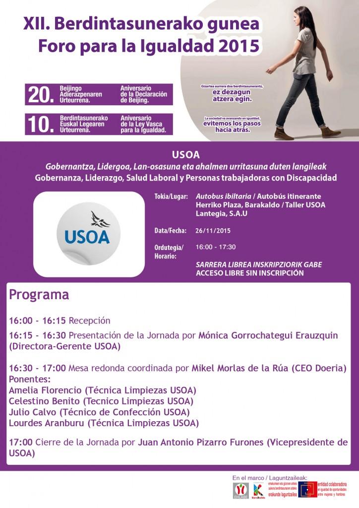 2015 programa FOROEMAK USOA 26nov